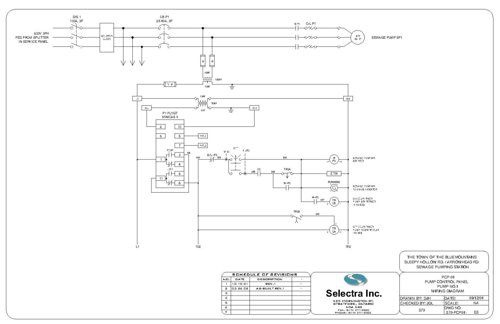 1 Phase Starter Panel - Start Run Capacitor Wiring Diagram