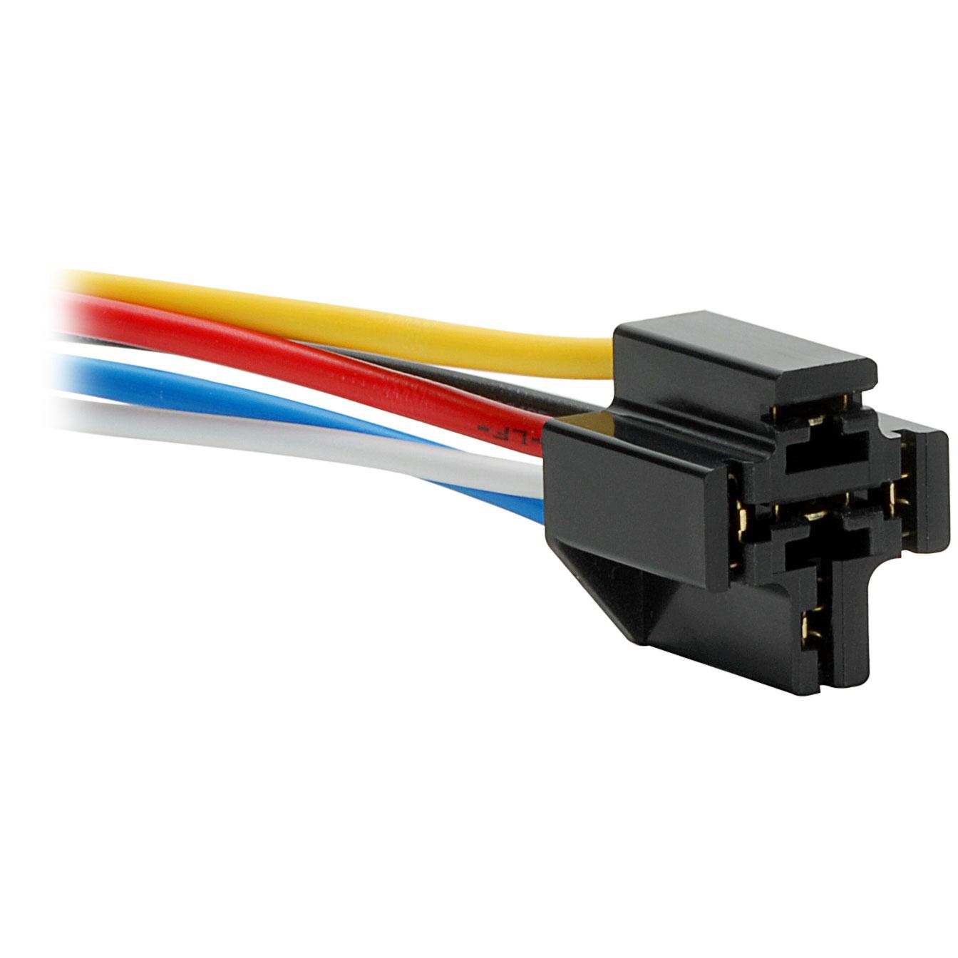 12 Vdc 5-Pin Relay Socket For Bosch Type Relay - 5 Pin Relay Wiring Diagram