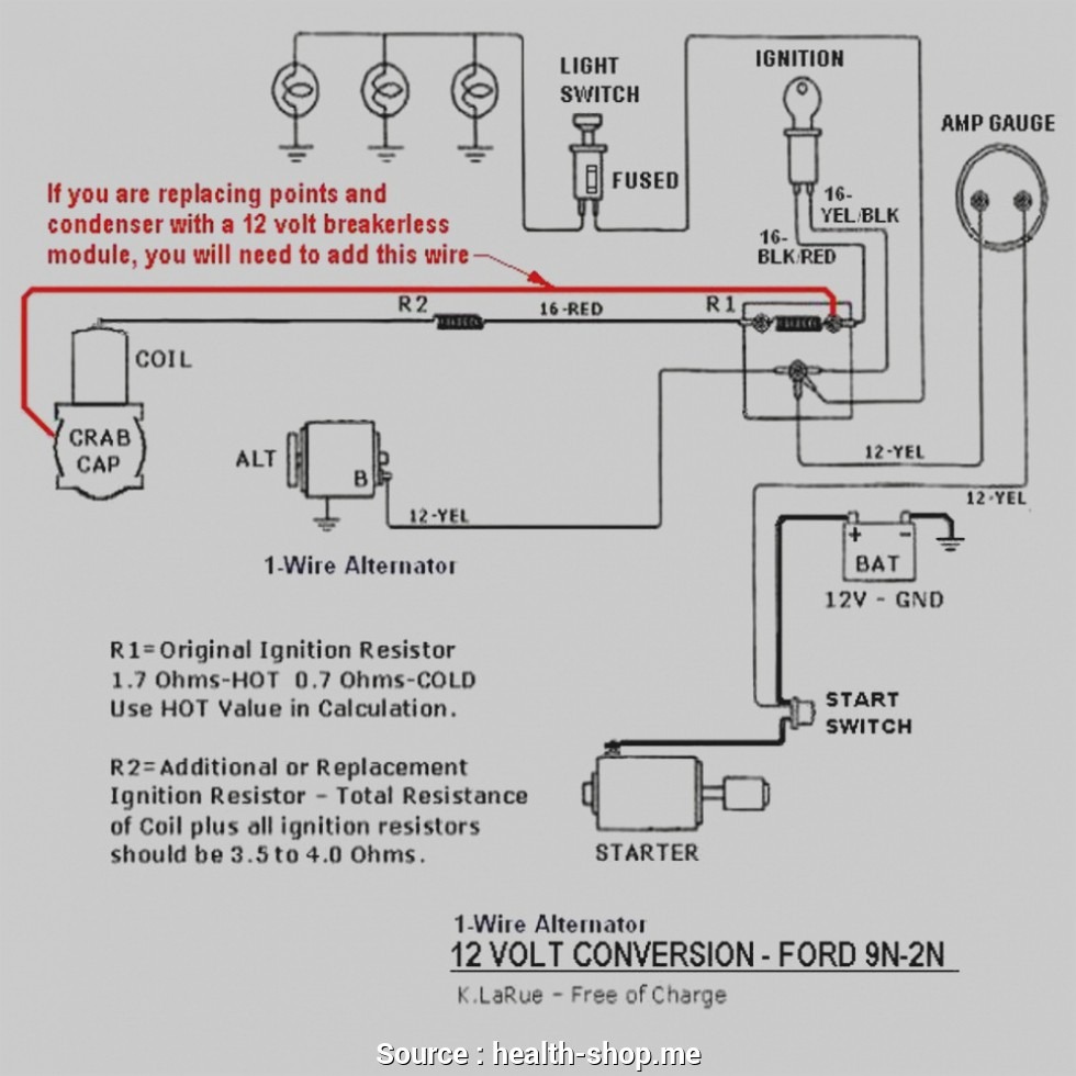 12 Volt Conversion Wiring Diagram For 8N | Wiring Diagram - 8N Ford Tractor Wiring Diagram