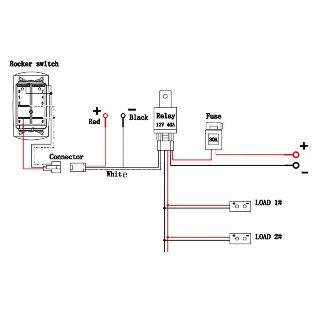 12 Volt Led Wiring Diagram With Relay - Data Wiring Diagram Today - 12 Volt Wiring Diagram For Lights