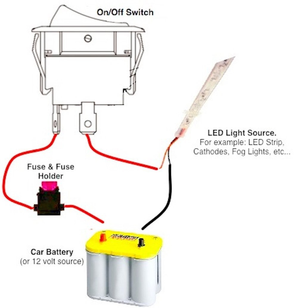 12 Volt On Off Toggle Switch Wiring Diagram | Manual E-Books - On Off On Toggle Switch Wiring Diagram