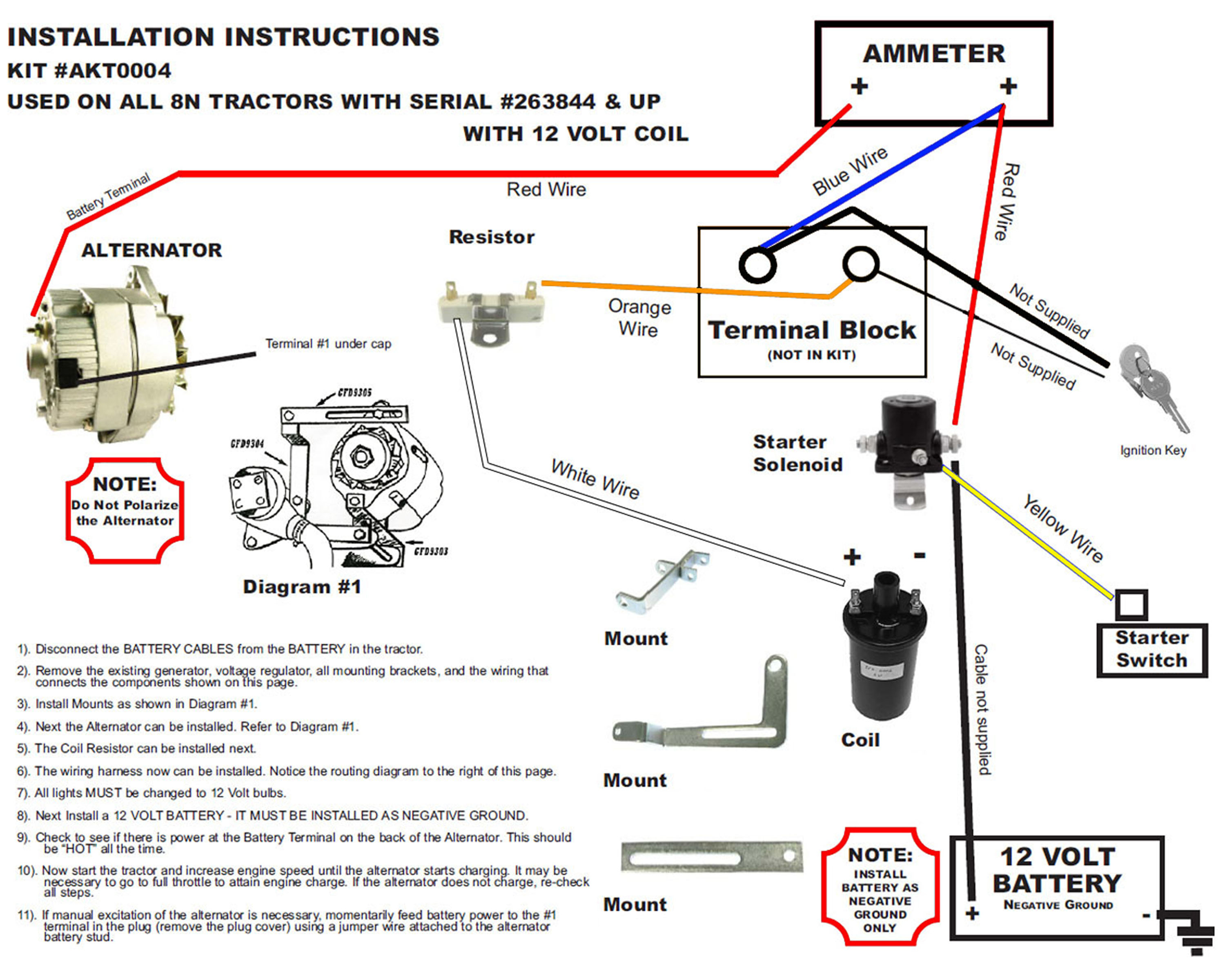 12 Volt Wiring Diagram Ford 8N Tractor 1 Wire Alternator - Wiring - Ford 8N 12 Volt Conversion Wiring Diagram