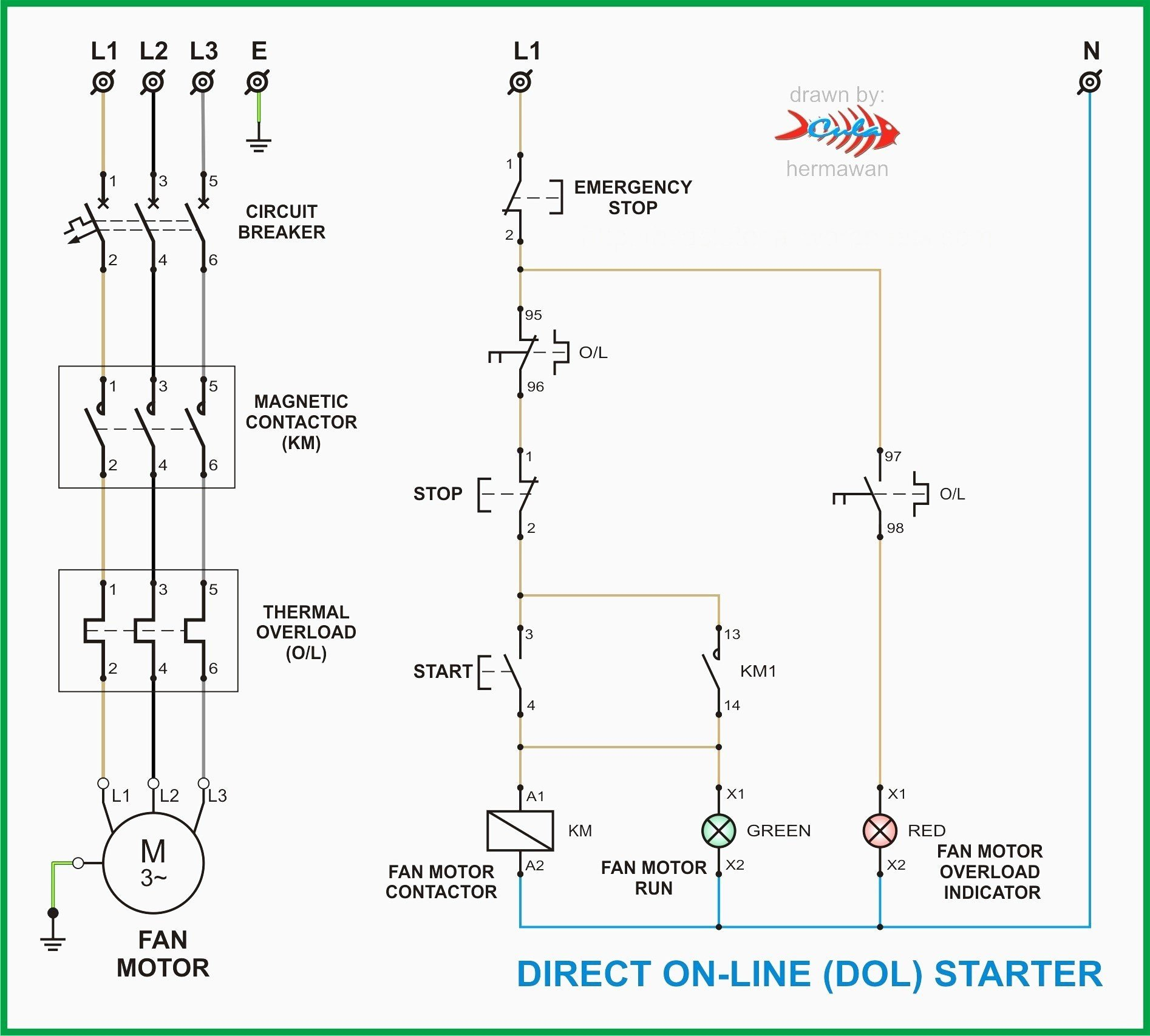 Motor Starter Wiring Diagram Start Stop | Wiring Diagram