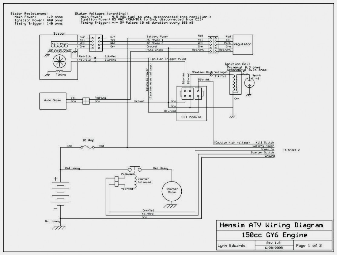125Cc Atv Wiring | Wiring Diagram - Taotao 125 Atv Wiring Diagram