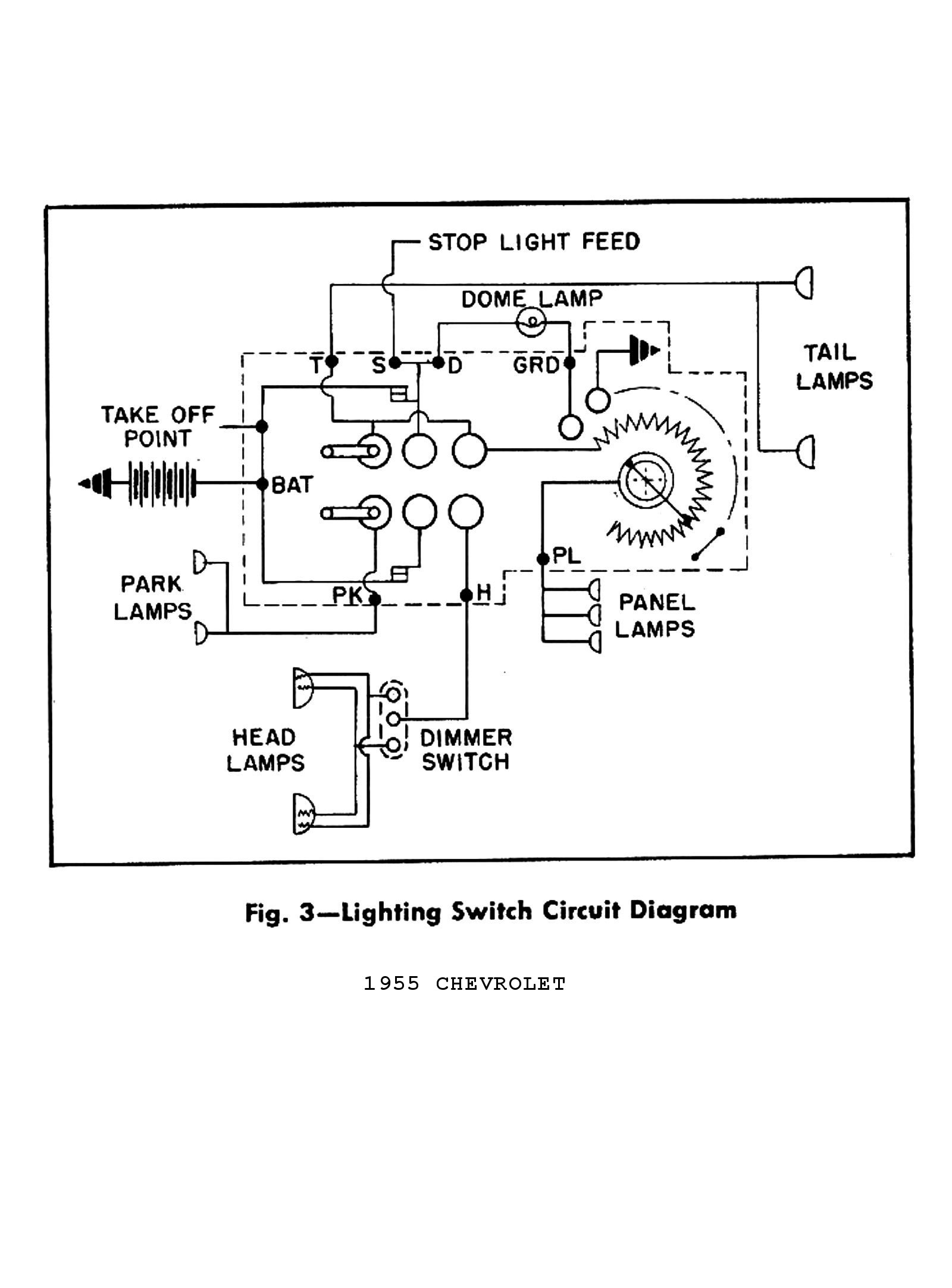 1947 Chevy Headlight Switch Wiring Diagram | Manual E-Books - Chevy Headlight Switch Wiring Diagram