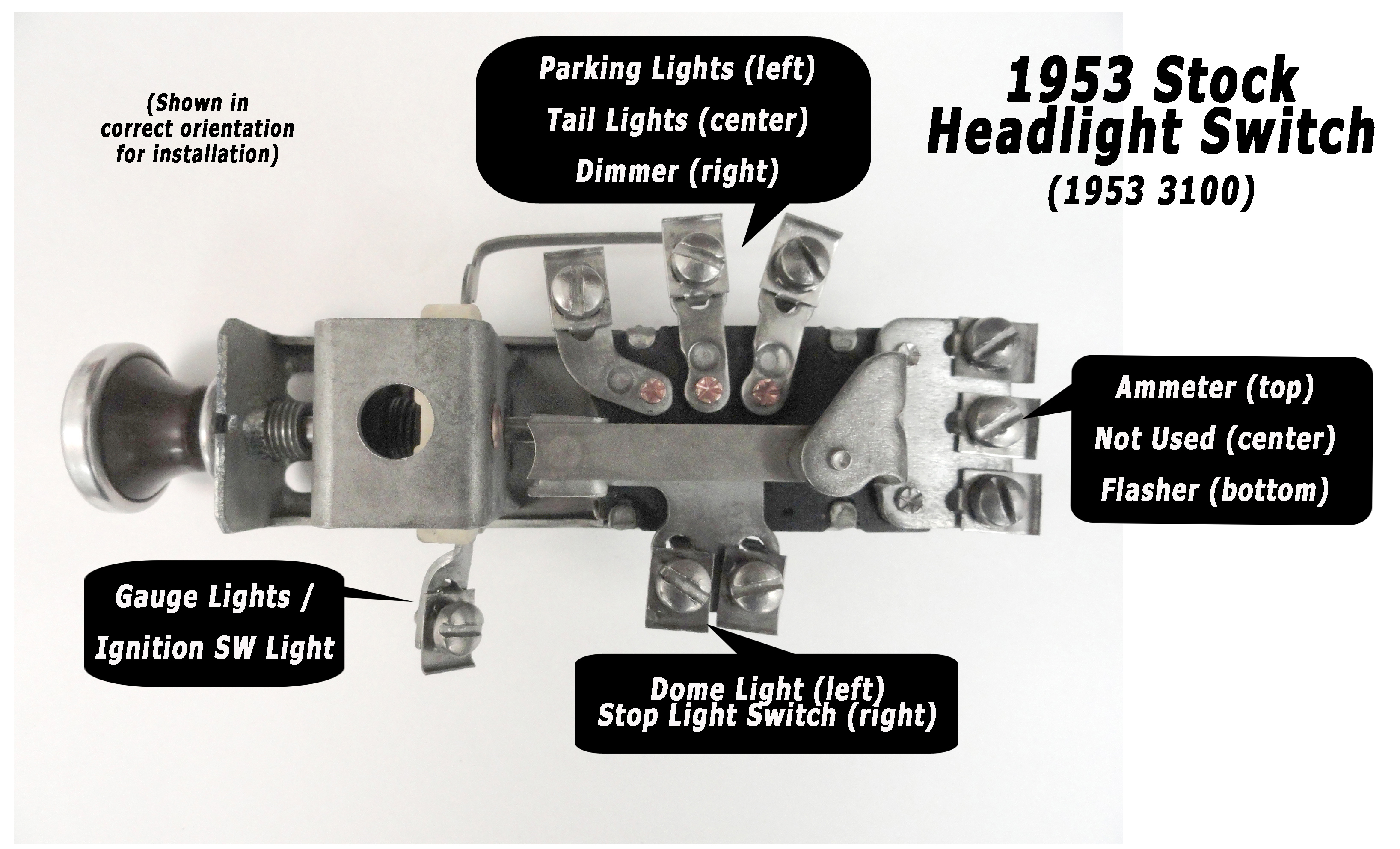 1950 Chevy Headlight Switch Wiring Diagram | Manual E-Books - Chevy Headlight Switch Wiring Diagram
