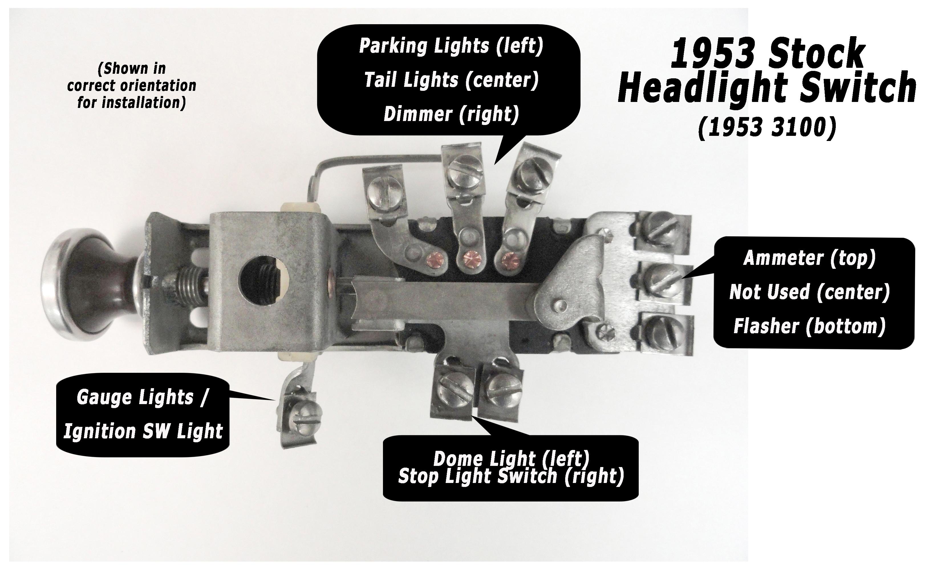 1950 Chevy Headlight Switch Wiring Diagram | Manual E-Books - Chevy Headlight Switch Wiring Diagram