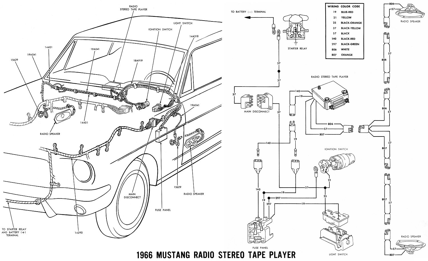 66 Mustang Wiring Diagram | Wiring Diagram