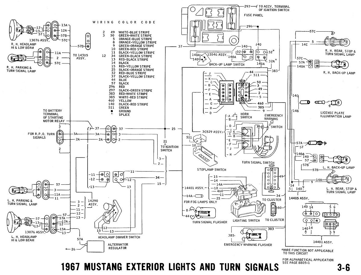 1967 Mustang Wiring And Vacuum Diagrams - Average Joe Restoration - 1967 Mustang Wiring Diagram