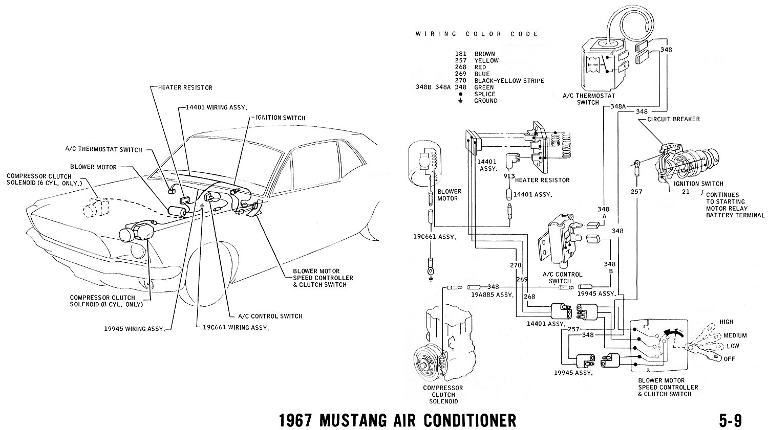 1967 Mustang Wiring And Vacuum Diagrams - Average Joe Restoration - Western Plow Wiring Diagram