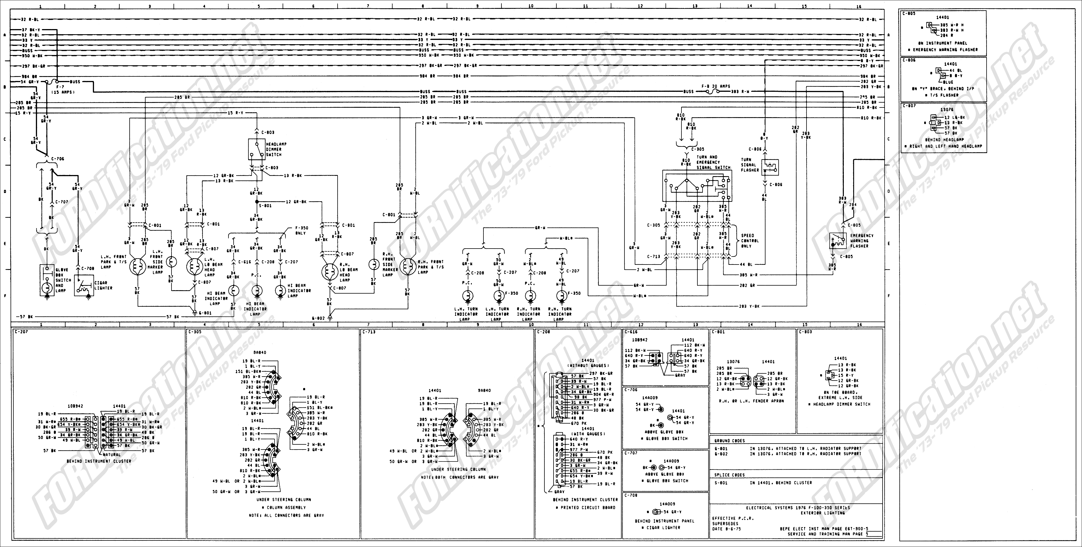 1976 Ford Turn Signal Switch Wiring Diagram - Wiring Diagrams Hubs - Ford F250 Wiring Diagram For Trailer Lights
