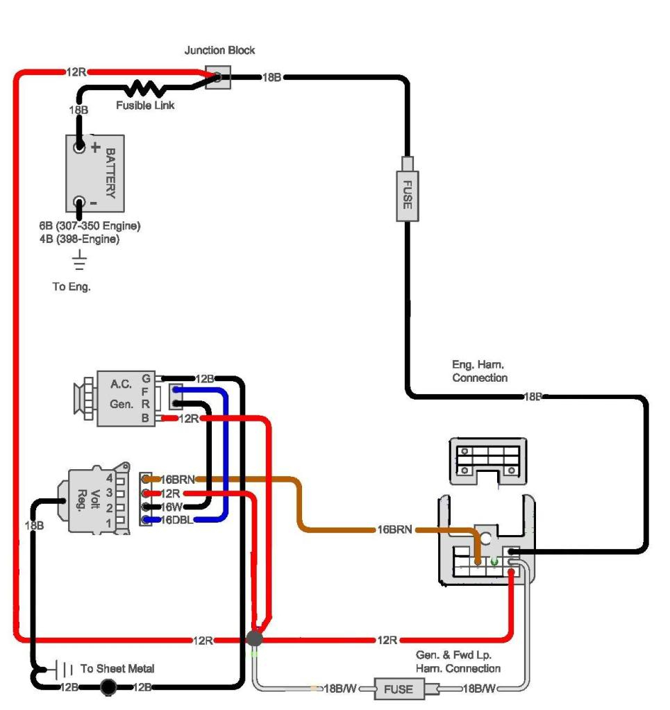 1985 Gm Alternator Wiring - Wiring Diagram Data - Gm 4 Wire Alternator Wiring Diagram