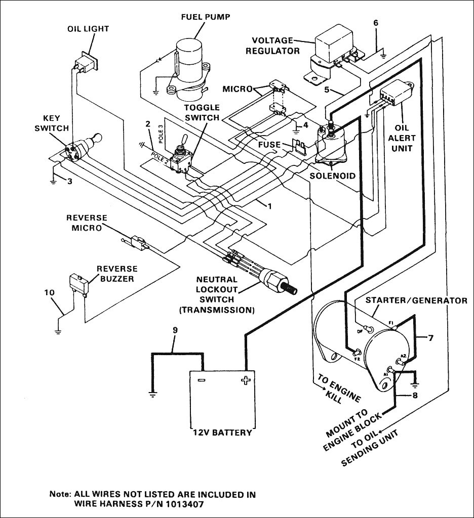 1993 Club Car Schematic Diagram - Wiring Diagrams Hubs - Club Car Forward Reverse Switch Wiring Diagram