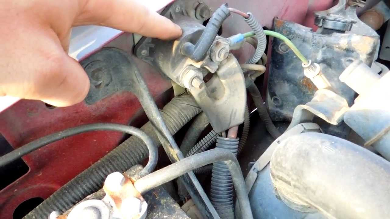 1994 Ford F150 5.8L Efi Starter Solenoid Relay Location - Youtube - Ford F150 Starter Solenoid Wiring Diagram