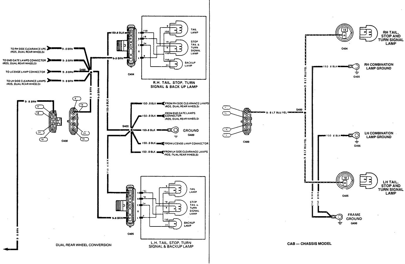 1997 Chevy Tail Light Wiring Diagram | Manual E-Books - Tail Light Wiring Diagram