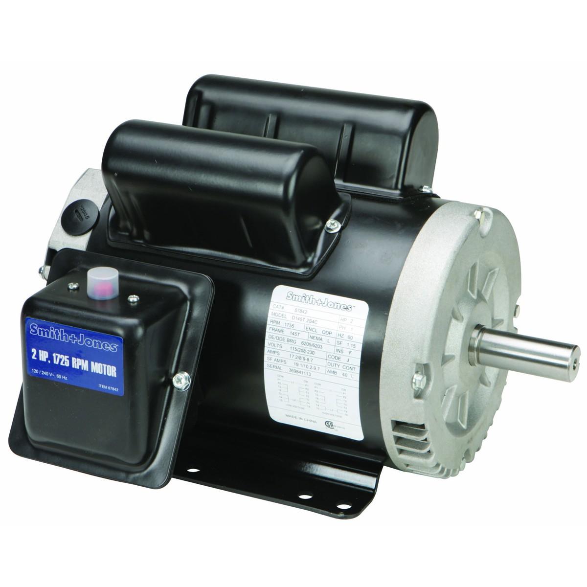 2 Hp Compressor Duty Motor - Smith And Jones Electric Motors Wiring Diagram