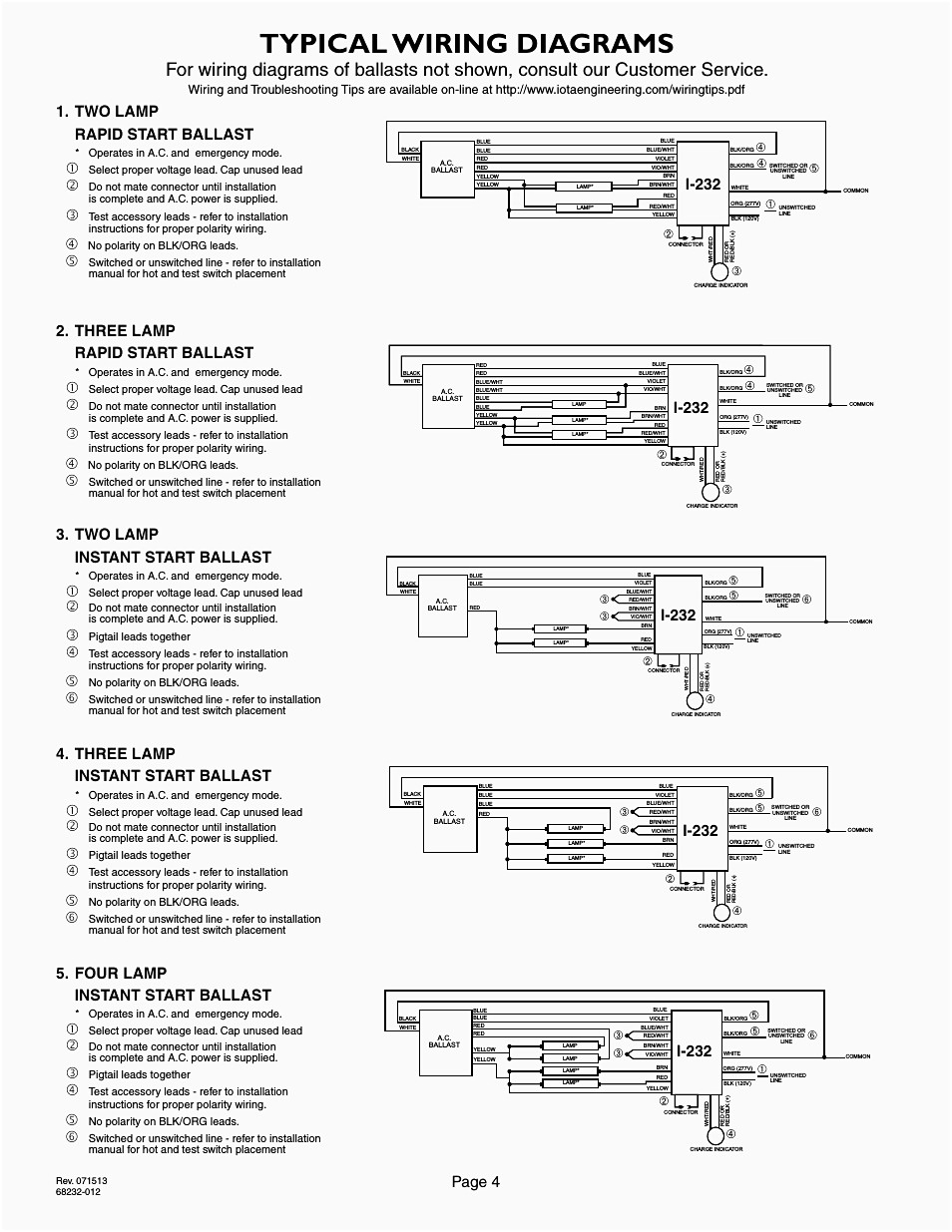 2 Ballast Wiring Diagram