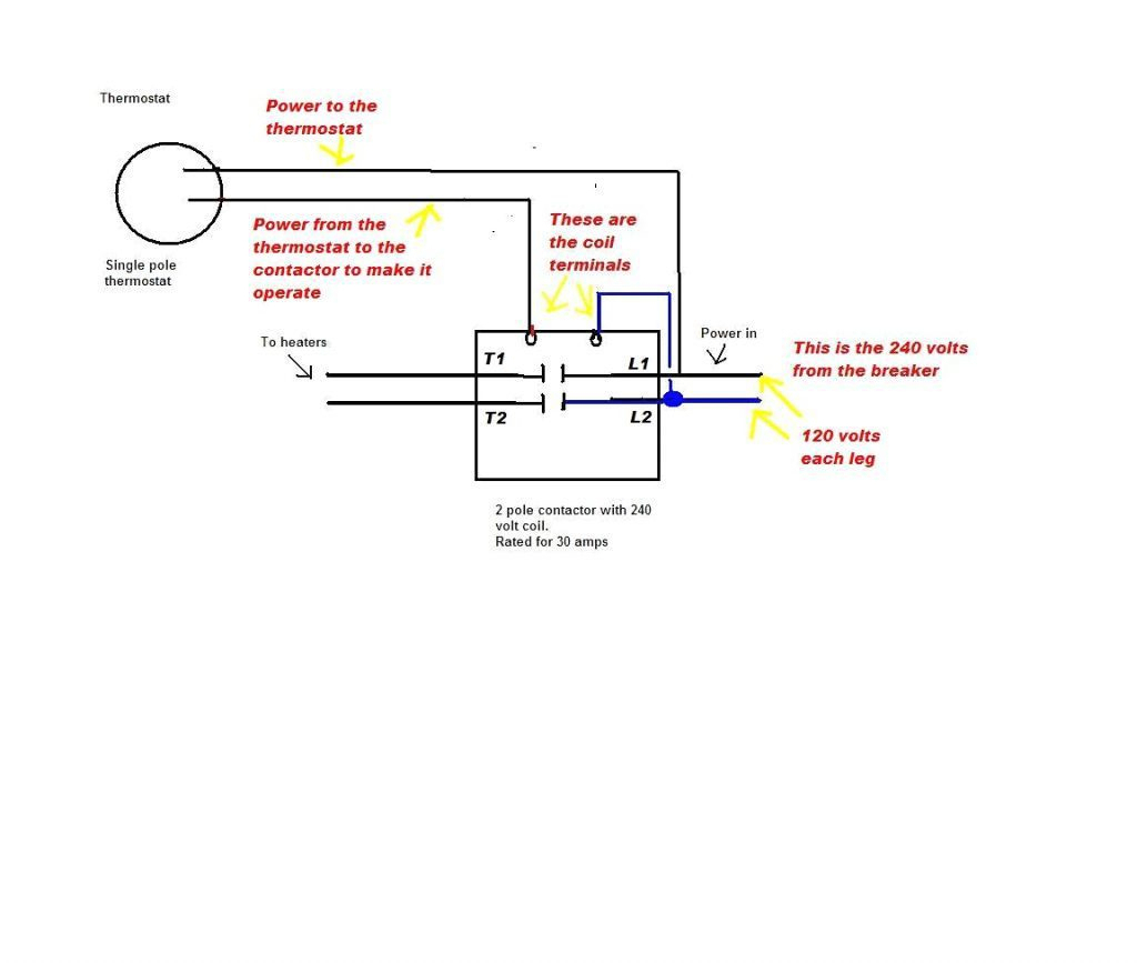 Single Pole Thermostat Wiring Diagram