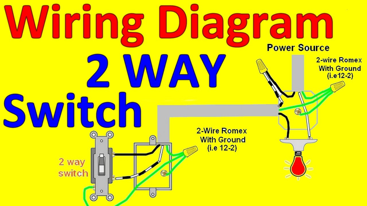 2 Way Light Switch Wiring Diagrams - Youtube - Wiring Diagram Light Switch