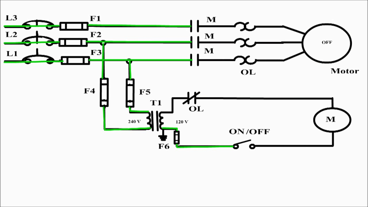 2 Wire Control Circuit Diagram. Motor Control Basics. Controlling - 3 Phase Motors Wiring Diagram