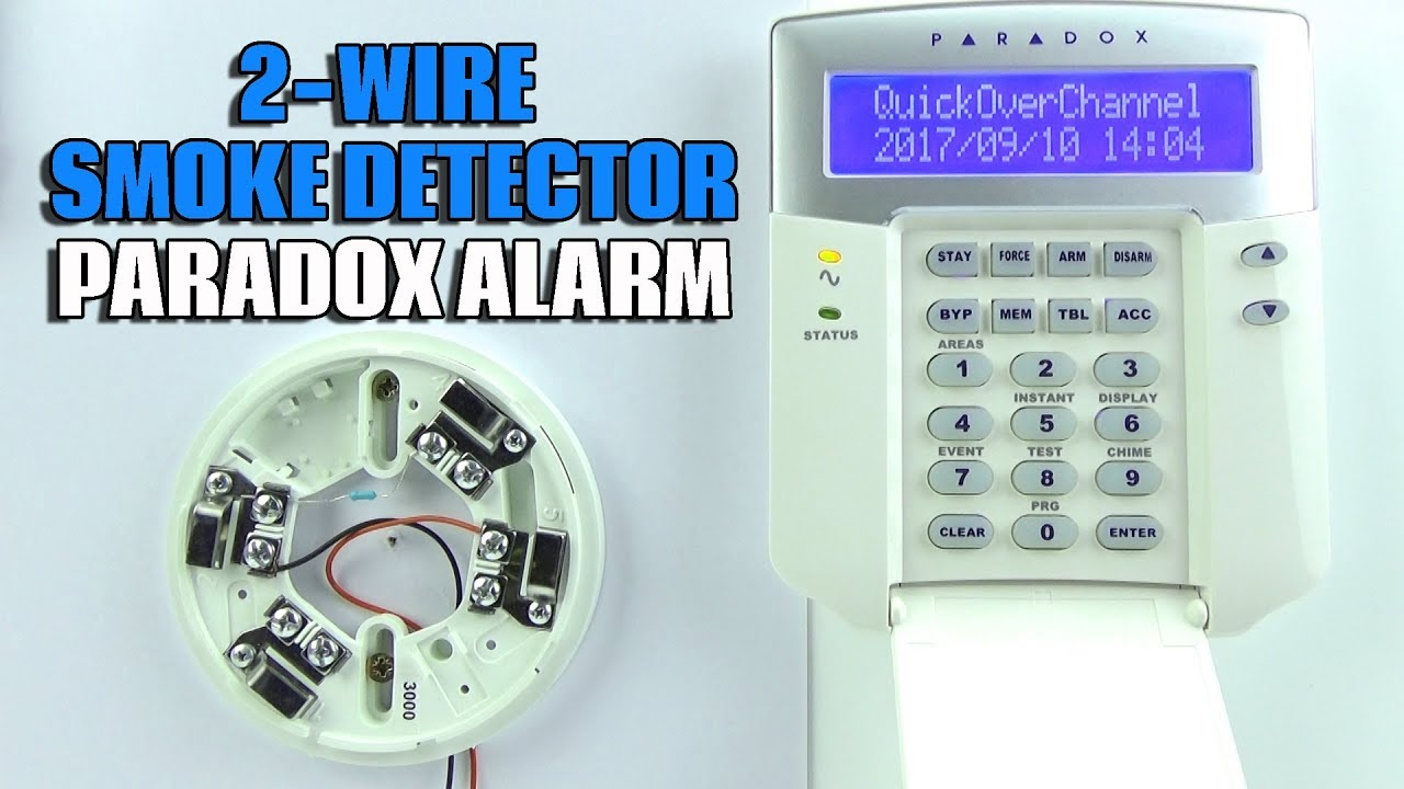 2 Wire Smoke Detector Wiring Paradox Evo Alarm Panel - Youtube - 2 Wire Smoke Detector Wiring Diagram