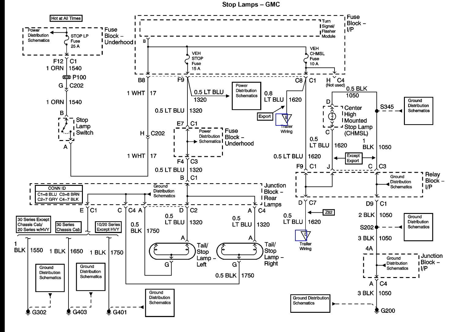 2000 Gmc Tail Light Wiring - Wiring Diagram Data - Tail Light Wiring Diagram Chevy