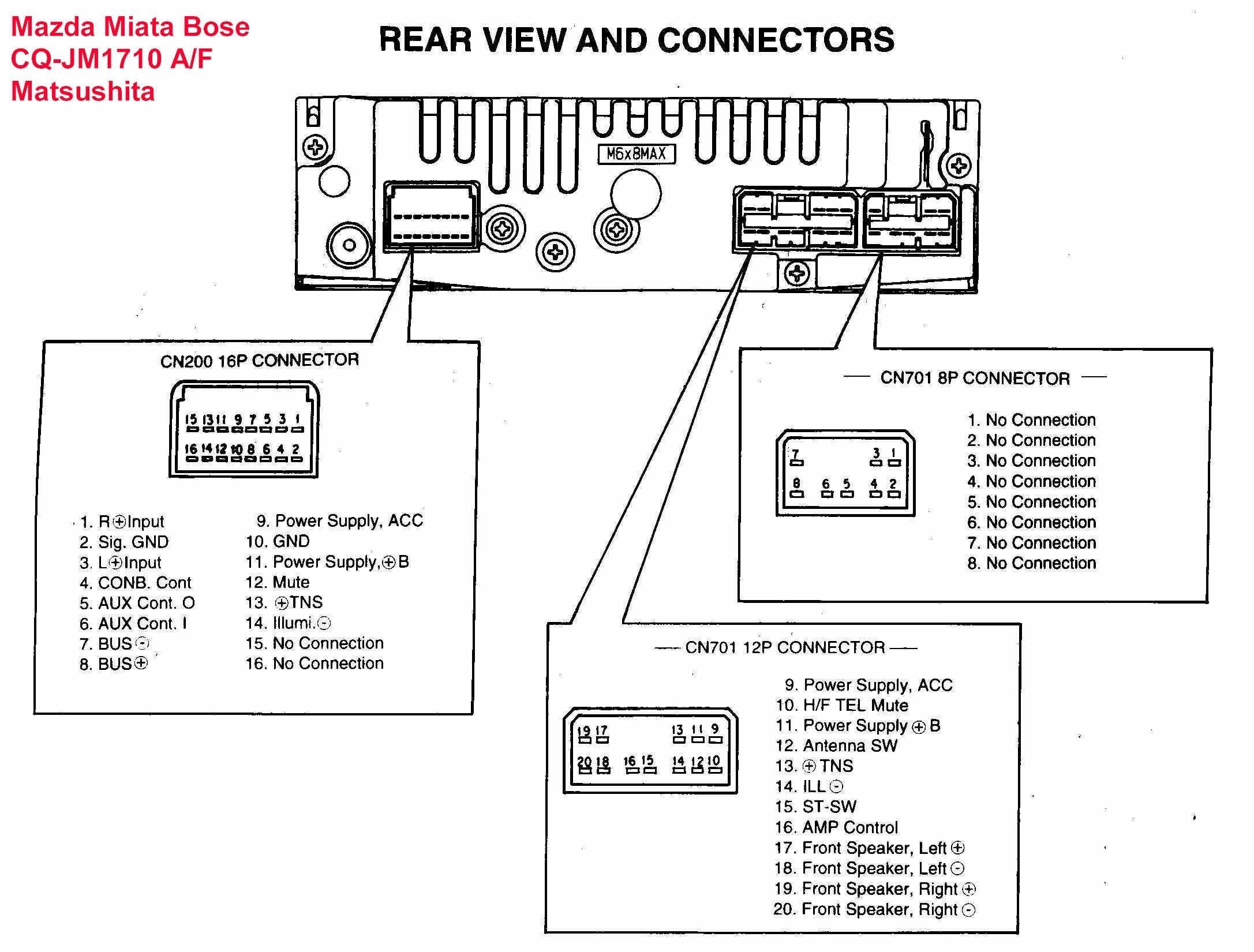 2004 Mazda 3 Stereo Wiring Diagram - Pickenscountymedicalcenter - Radio Wiring Harness Diagram