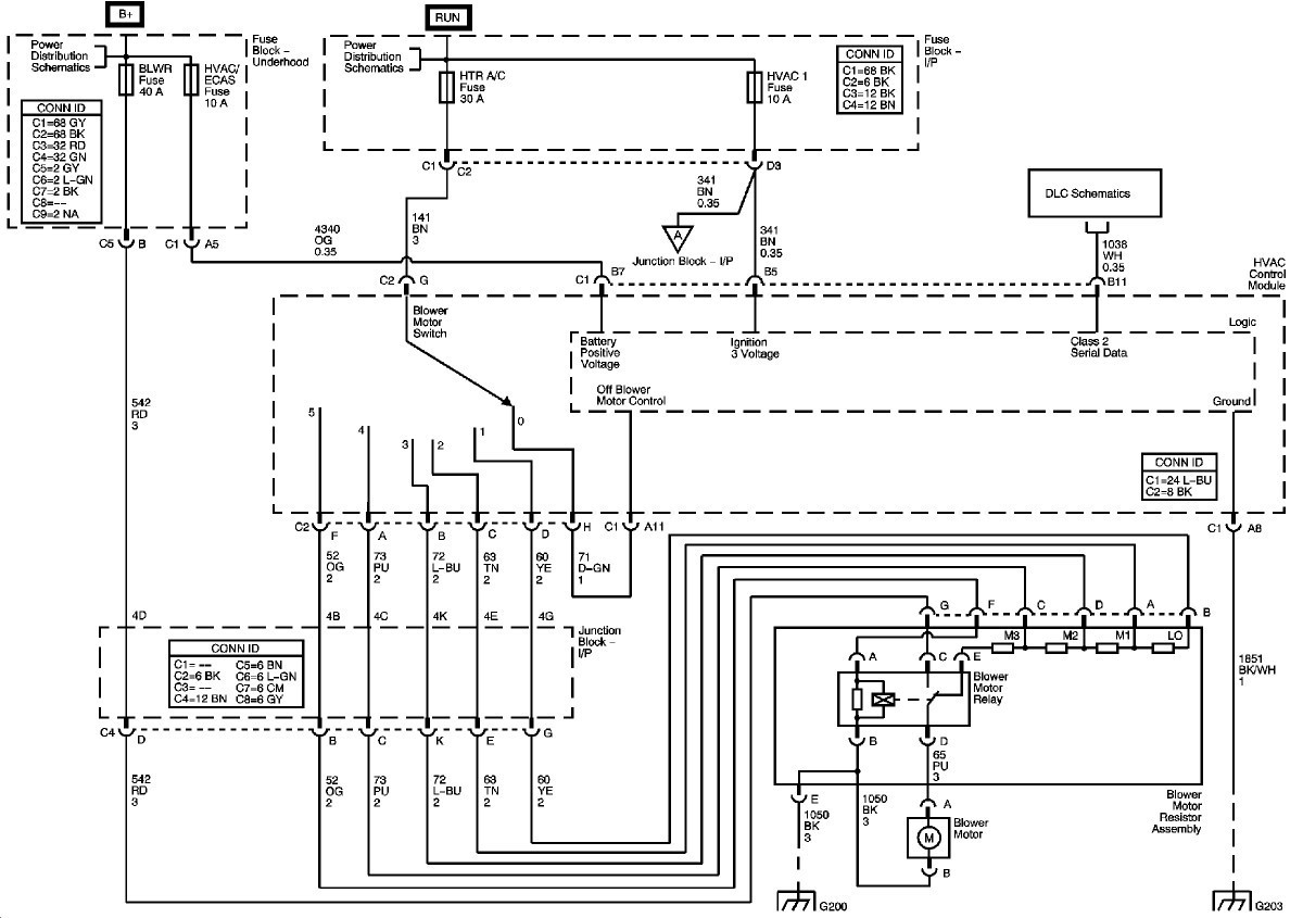 2005 Chevy Silverado Blower Motor Resistor Wiring Diagram