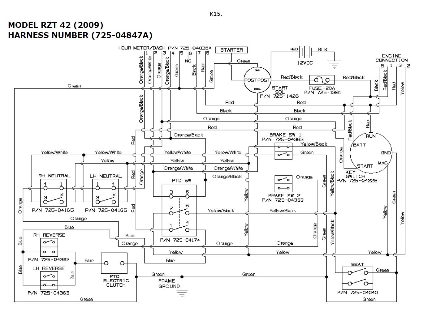 Cub Cadet Rzt 50 Wiring Diagram