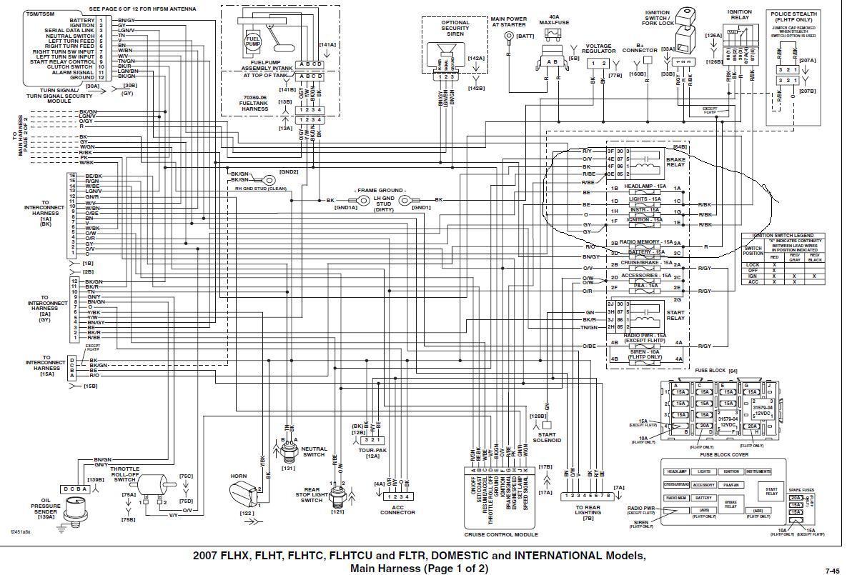 2011 Harley Wiring Diagram - Wiring Diagram Blog - Harley Davidson Wiring Diagram Download