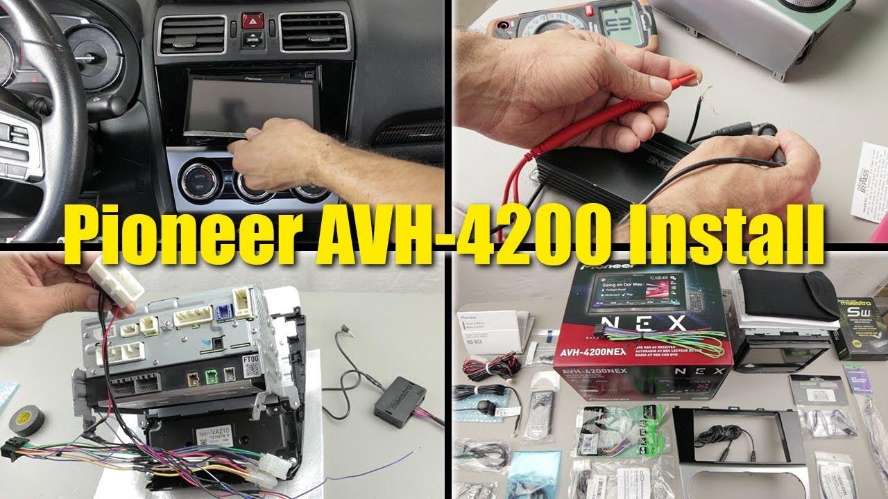 2017 Wrx Limited Stereo Upgrade - Pioneer Avh-4200 Nex Installation - Backup Camera Wiring Diagram