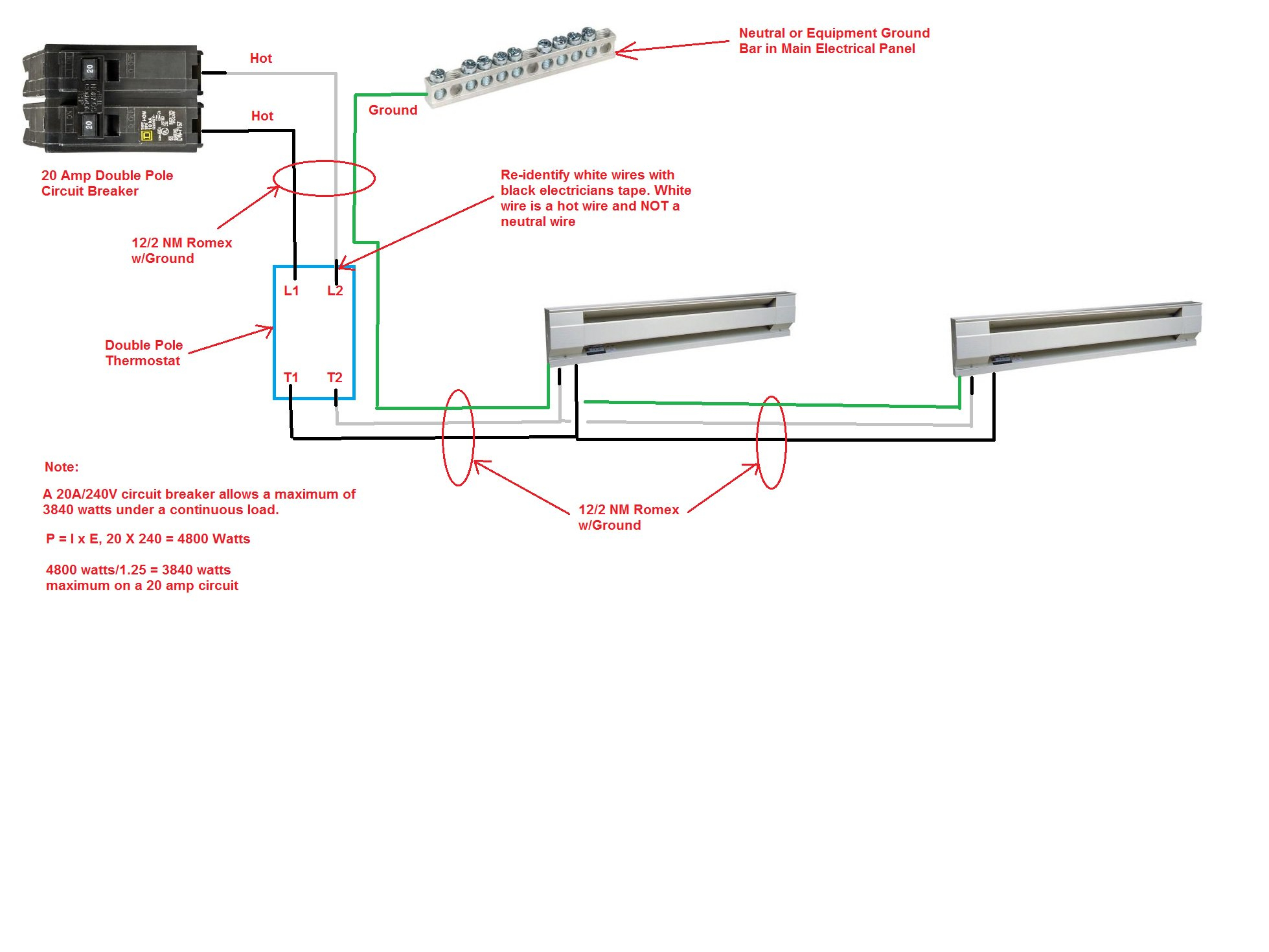 220 Baseboard Heater Wiring Diagram | Wiring Diagram - Baseboard Heater Wiring Diagram