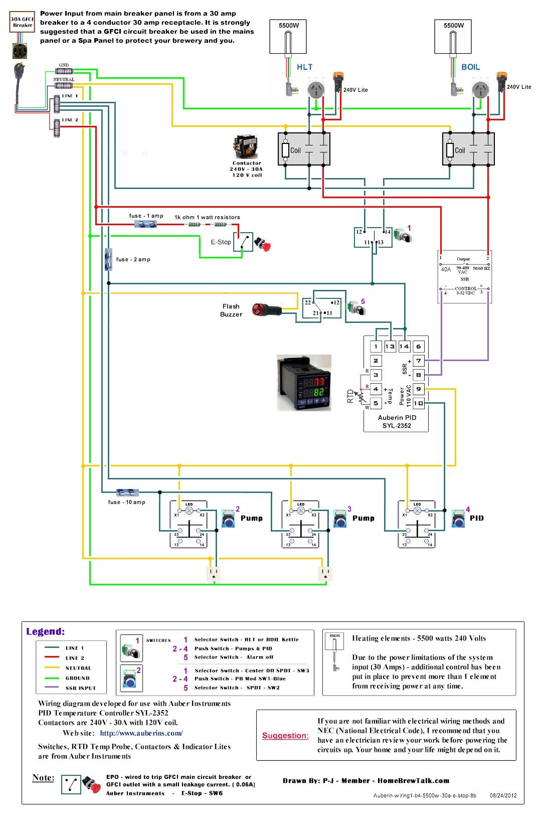 220V 30A Wiring Diagram Help - Page 2 - Home Brew Forums | *brewery - 220 Wiring Diagram