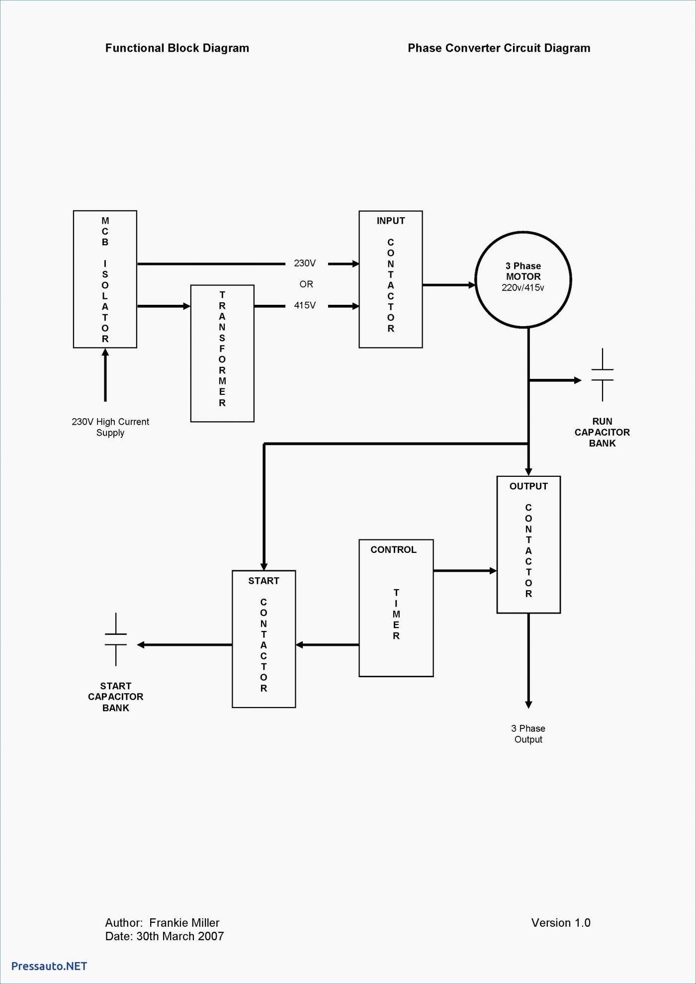 230V Single Phase Wiring Diagram | Wiring Diagram - Wiring Diagram For 230V Single Phase Motor