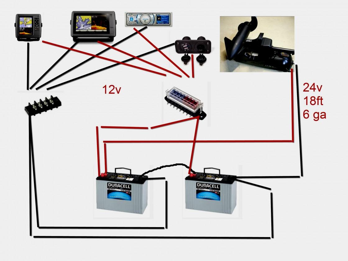 24 Volt Battery Wiring Diagram 24V Trolling Motor For - 24 Volt Battery Wiring Diagram