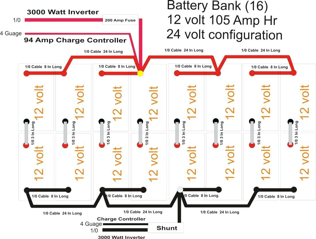 24 Volt Trolling Motor Battery Wiring Diagram Fair For For 24 Volt - 24 Volt Battery Wiring Diagram