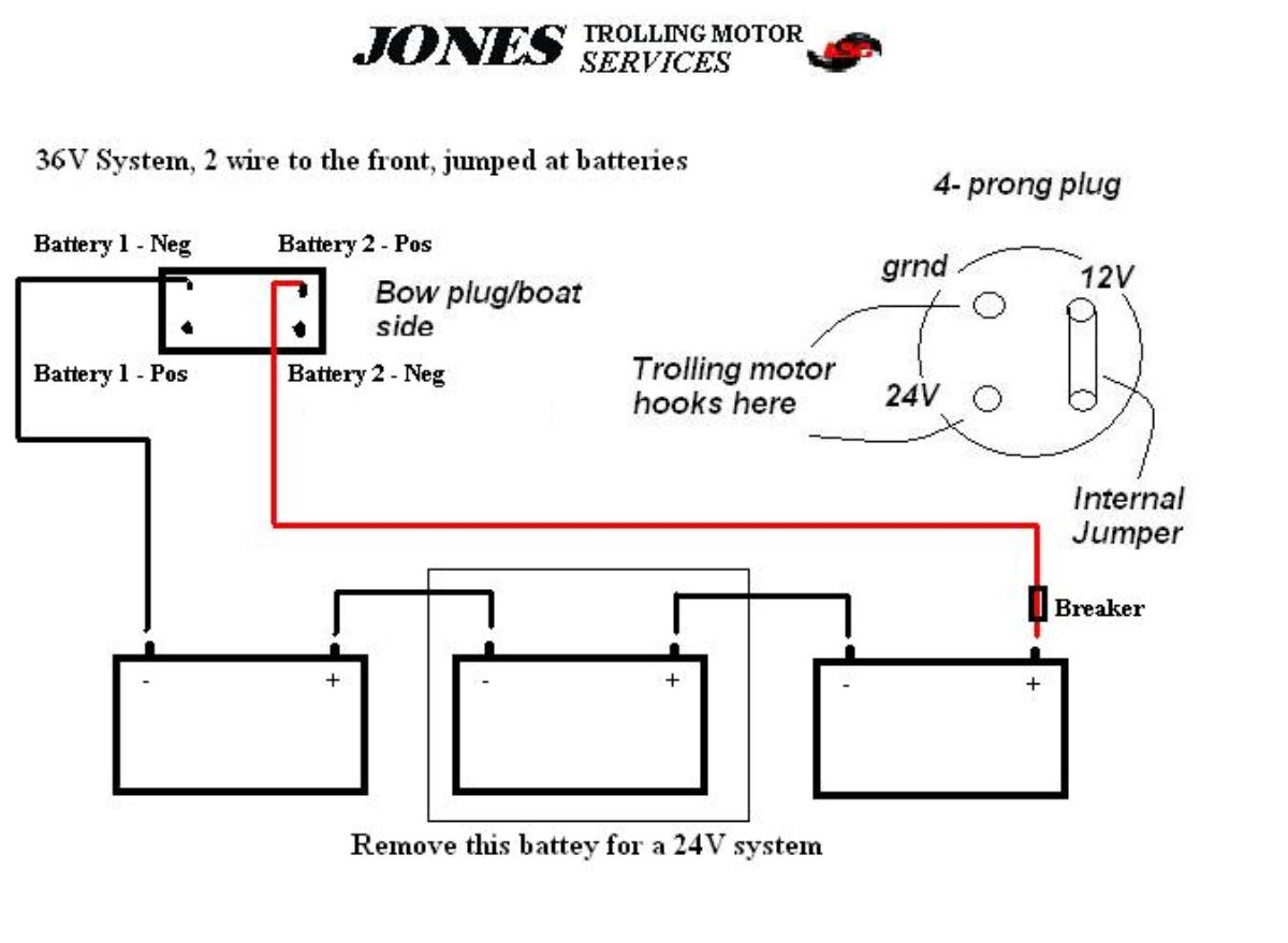 24 Volt Trolling Motor Battery Wiring Diagram | Manual E-Books - 36 Volt Trolling Motor Wiring Diagram