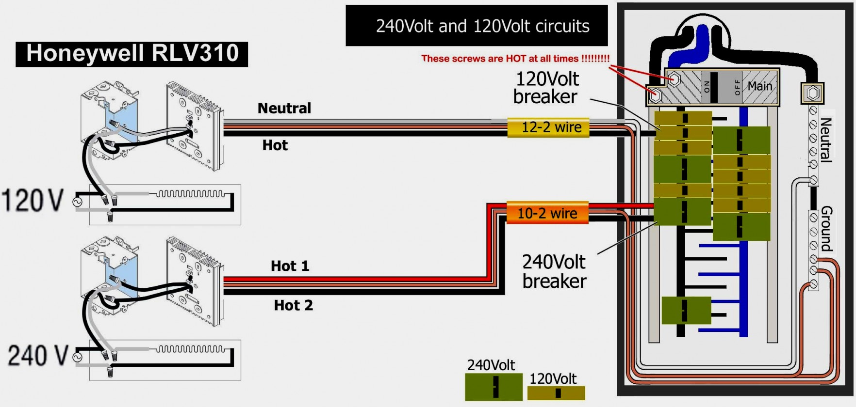 240 Volt Baseboard Heater Wiring Diagram
