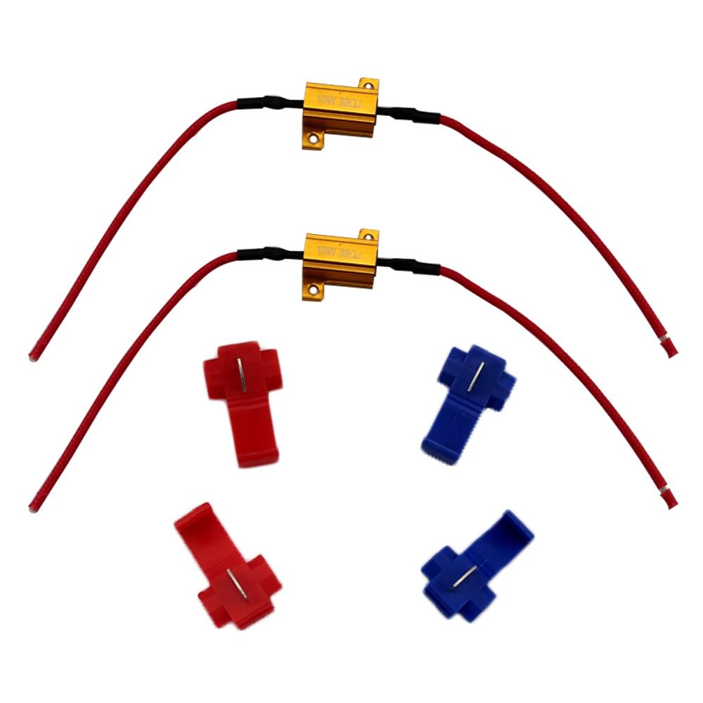 2Pcs 10W 39 Ohm Cnabus Load Resistor For Car Turn Signal Led Bulb - Led Load Resistor Wiring Diagram