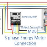 3 Phase Energy Meter Connection | 3 Phase Meterearthbondhon   3 Phase Wiring Diagram