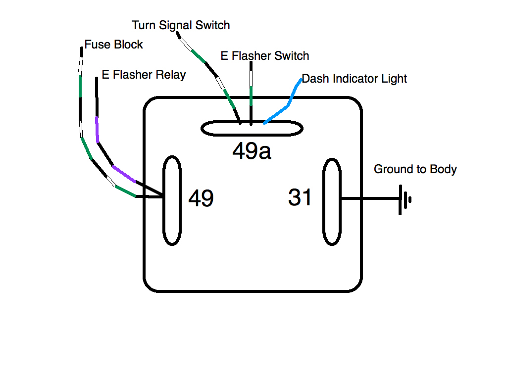 3 Prong Turn Signal Flasher Wiring - Wiring Diagram Detailed - 3 Prong Flasher Wiring Diagram
