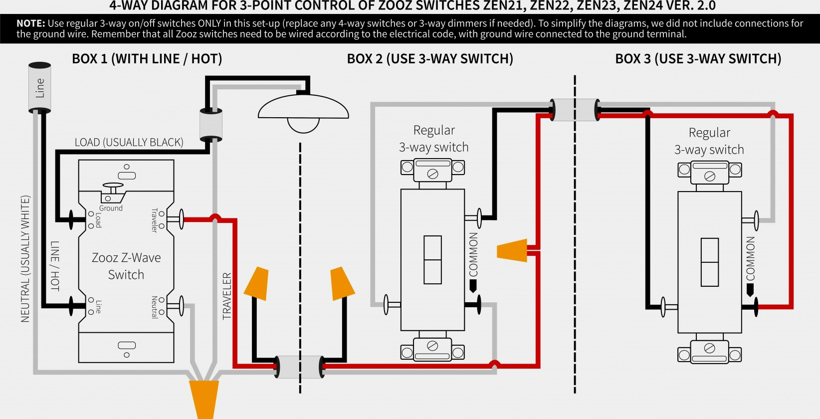 3 Way Switch Wiring Diagram Variations | Wiring Diagram - Leviton 3 Way Switch Wiring Diagram