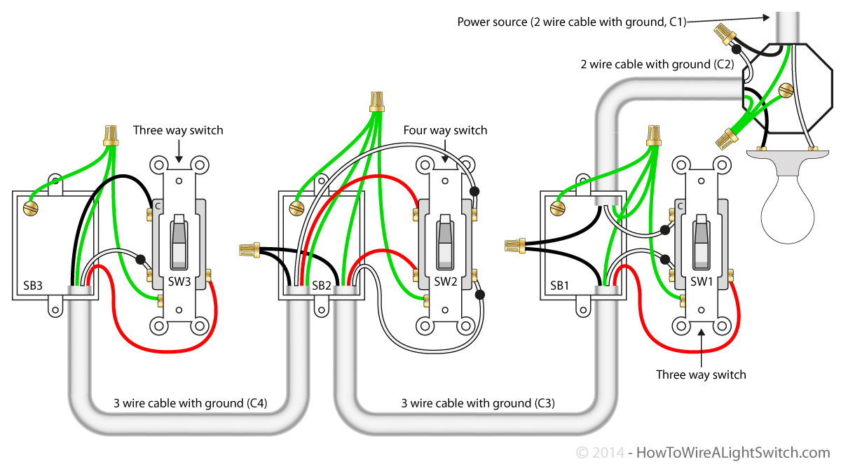 3 Way Wiring Diagram Multiple Lights | Wiring Library - Light Switch Wiring Diagram