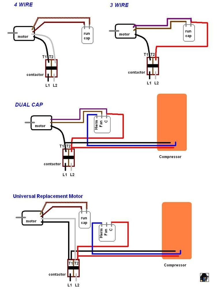 3 Wire Ac Motor Wiring Diagram   Wiring Library - 3 Wire Condenser Fan Motor Wiring Diagram