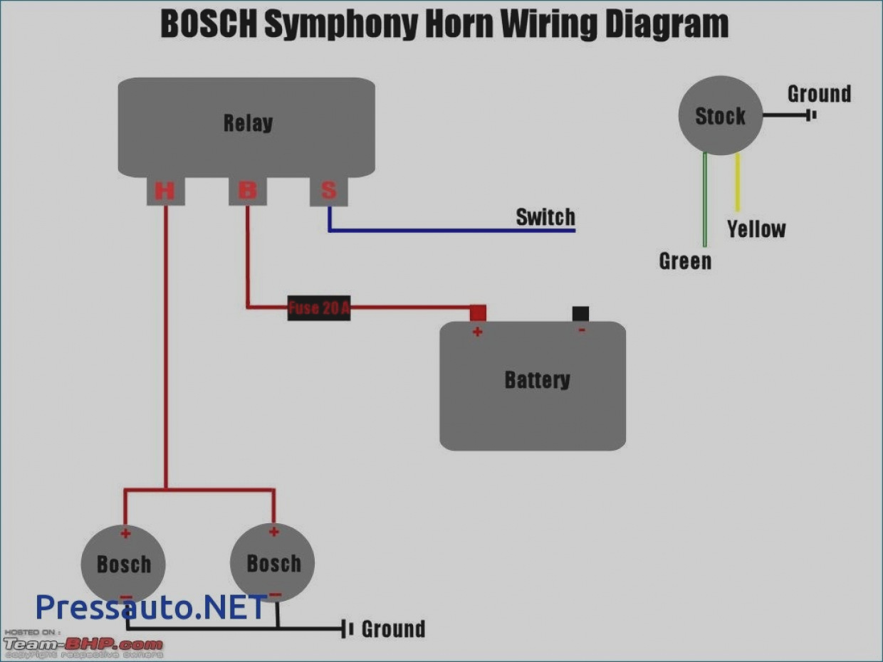 3 Wire Horn Relay Diagram - Wiring Diagram Blog - Horn Relay Wiring Diagram