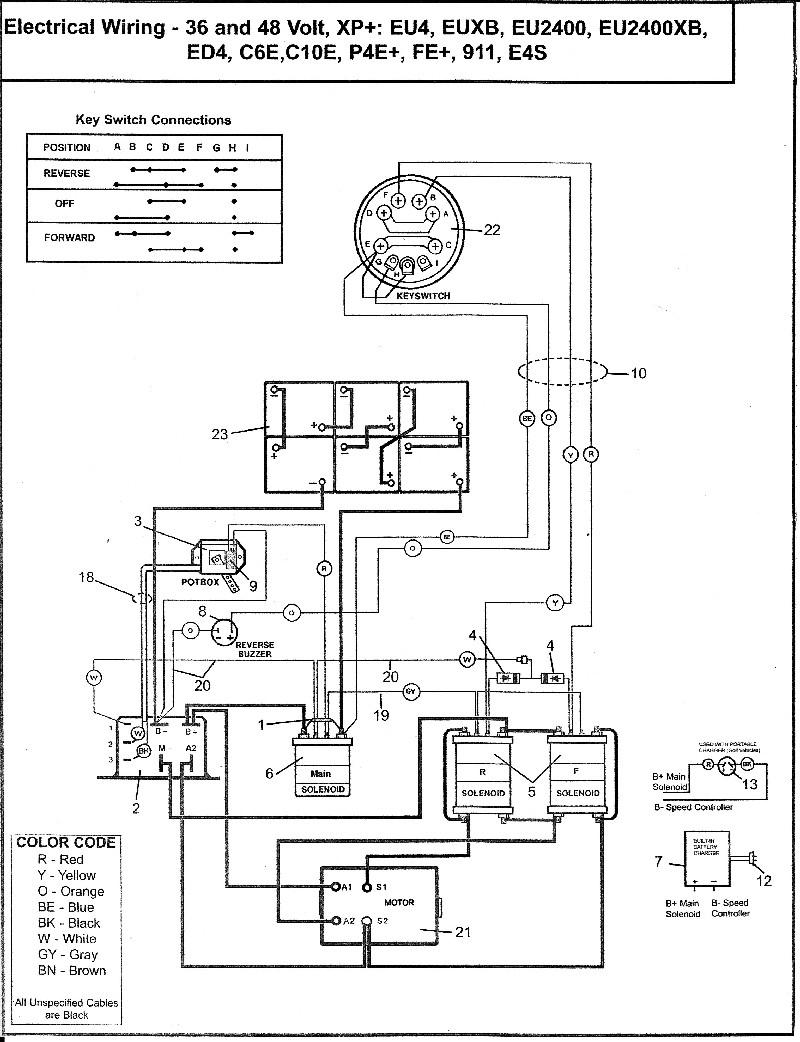 36 Volt Ez Go Golf Cart Wiring Diagram Coachedby Me Inside - Wellread - 36 Volt Golf Cart Wiring Diagram