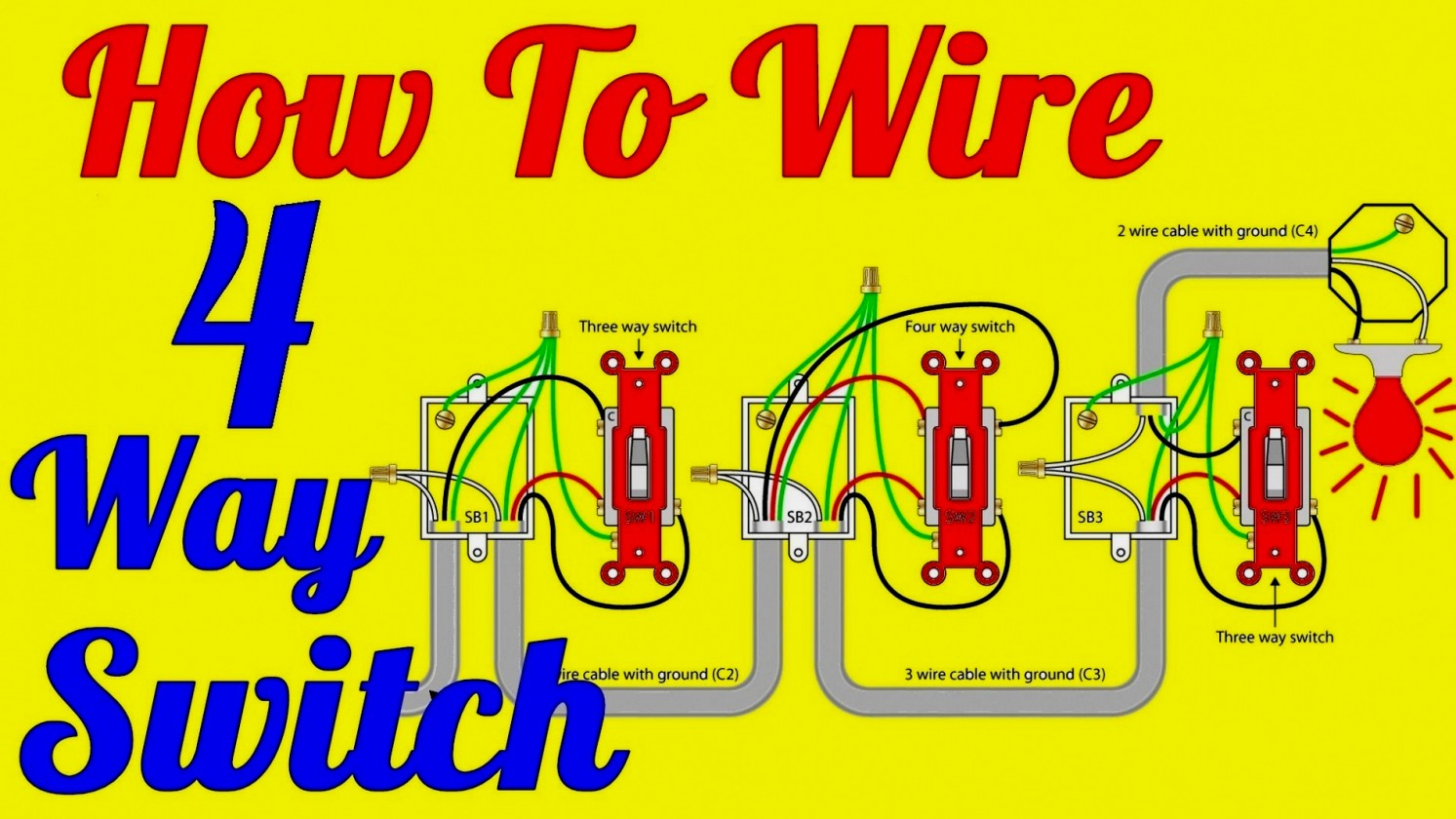 4 Way Wiring Diagram Multiple Lights - All Wiring Diagram - 3 Way Light Switch Wiring Diagram Multiple Lights