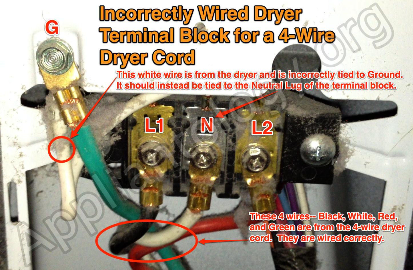 4 Wire Dryer Wiring - Data Wiring Diagram Schematic - 4 Prong Dryer Outlet Wiring Diagram