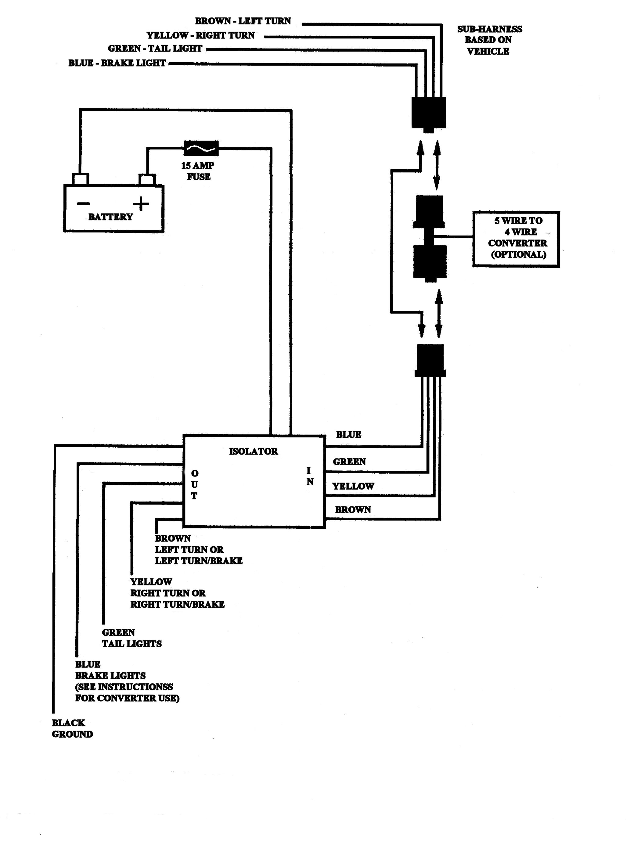 4 Pin Trailer Wiring Harness Diagram Collection