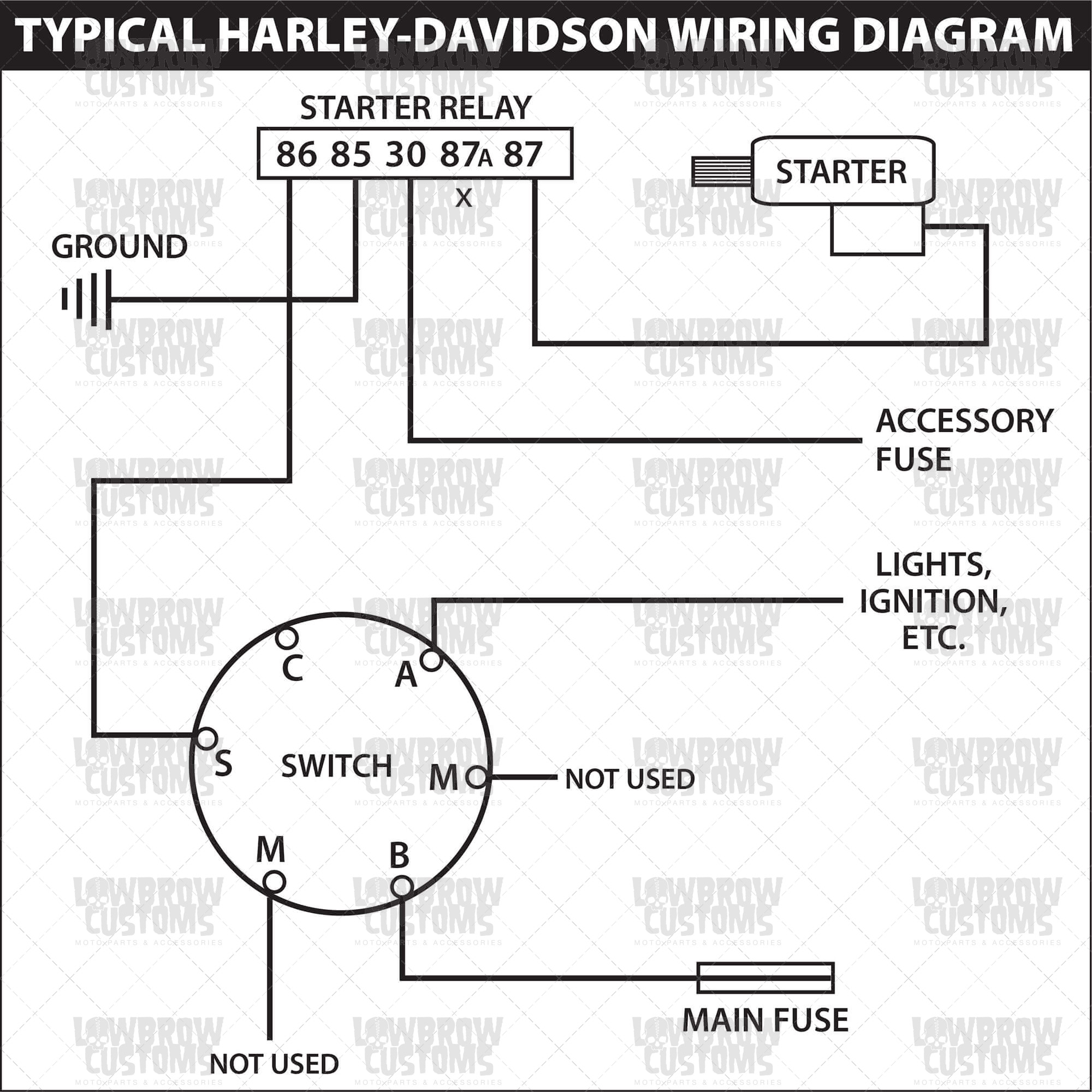 4 Wire Ignition Switch Wiring Diagram | Wiring Library - Motorcycle Ignition Switch Wiring Diagram